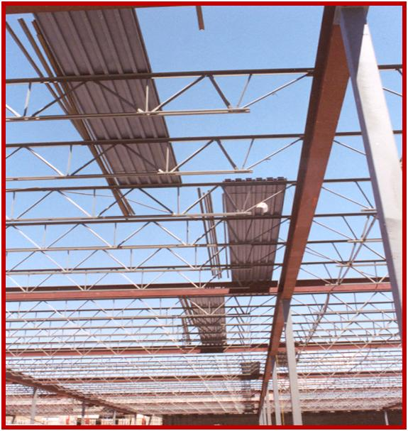 On the safe side erecting open web steel joist for Open web trusses